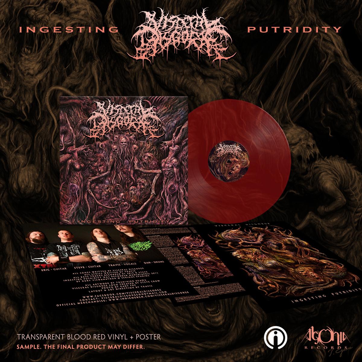 Ingesting Putridity Red Vinyl + Tee Bundle