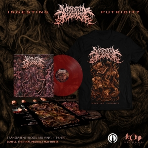 Ingesting Putridity Red Vinyl + Tee Bundle