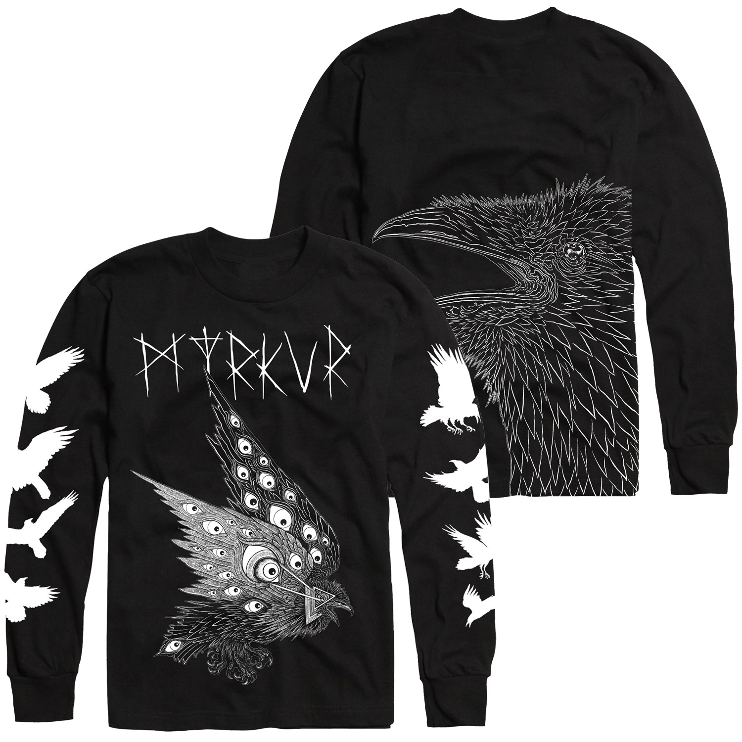 Thomas Hooper Raven Longsleeve Shirt + Folkesange CD Bundle
