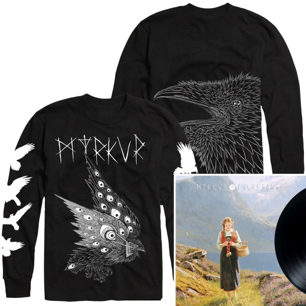 Thomas Hooper Raven Longsleeve Shirt + Folkesange LP Bundle