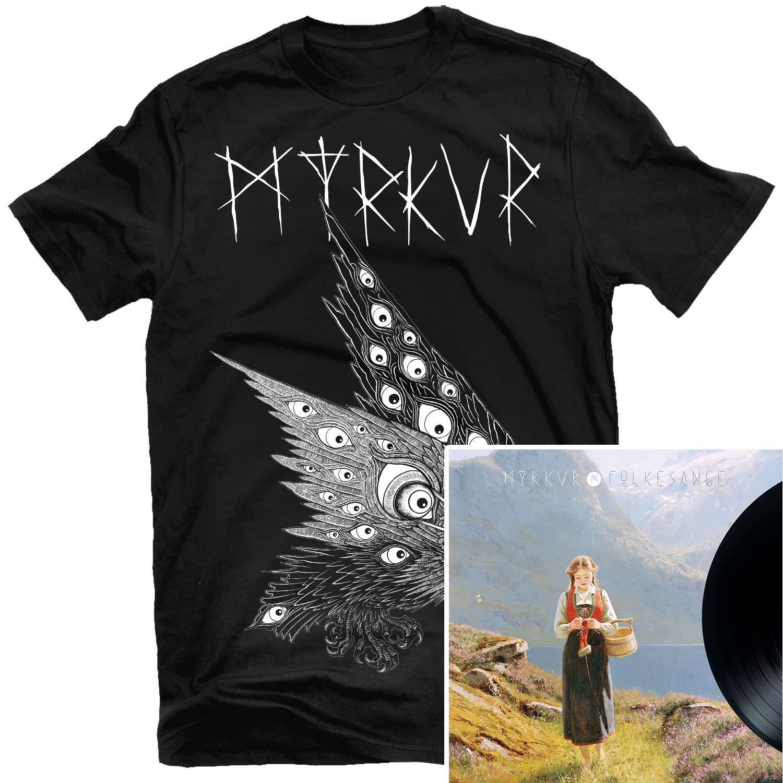 Thomas Hooper Raven T Shirt + Folkesange LP Bundle