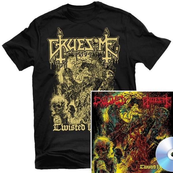 Gruesome - Twisted Horror T Shirt + CD Bundle