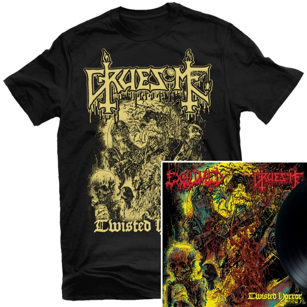 "Gruesome - Twisted Horror T Shirt + 10"" Bundle"