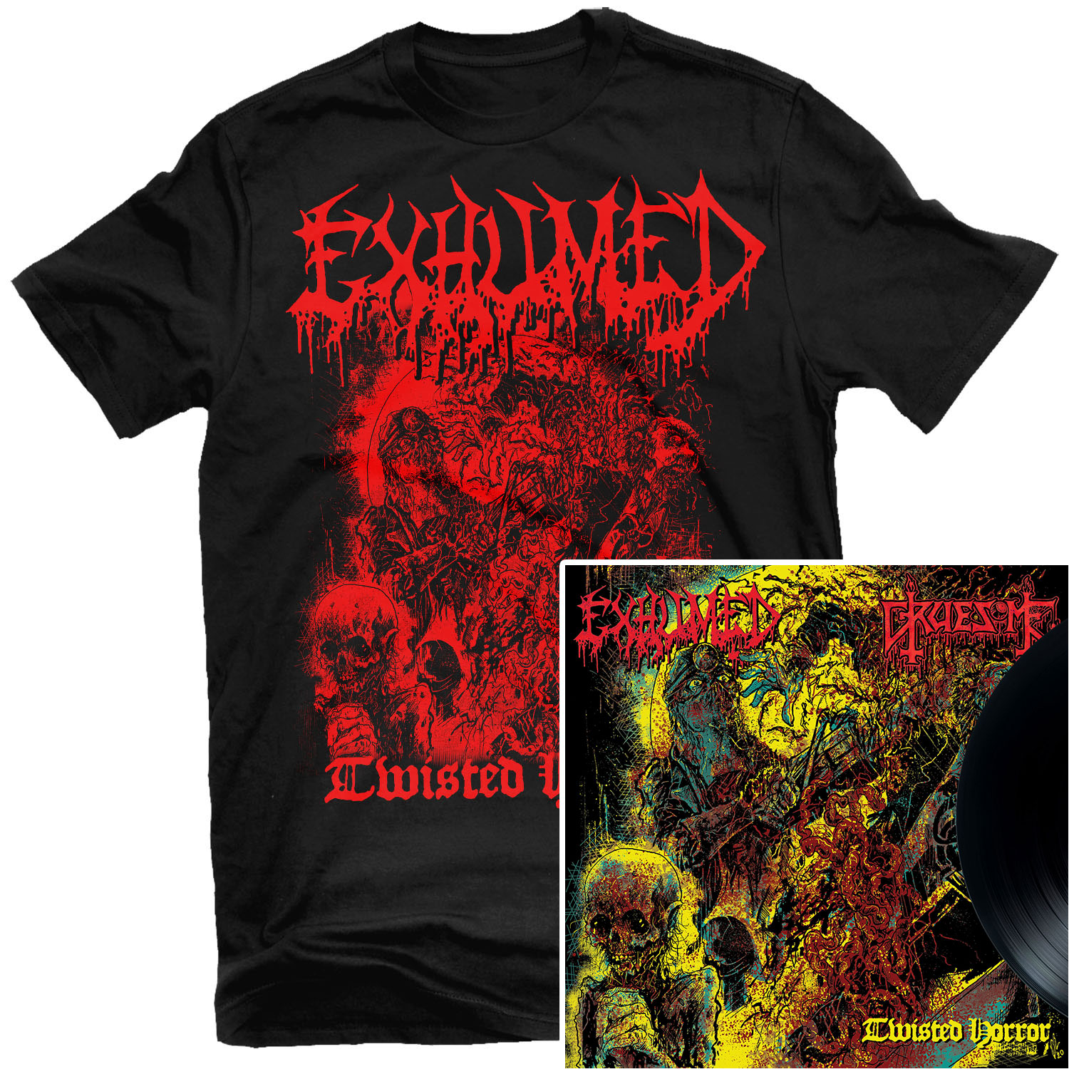 Exhumed - Twisted Horror T Shirt + 10