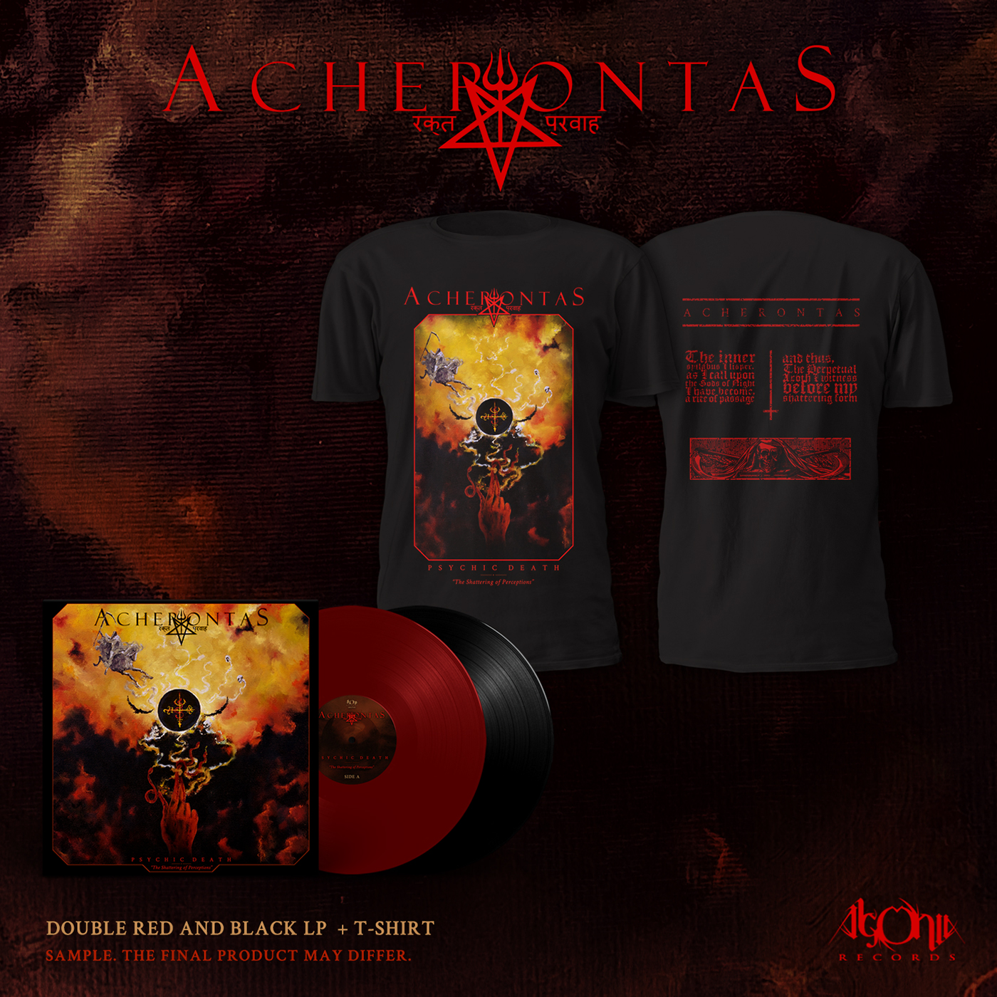 Psychicdeath Limited Black/Red Vinyl Bundle