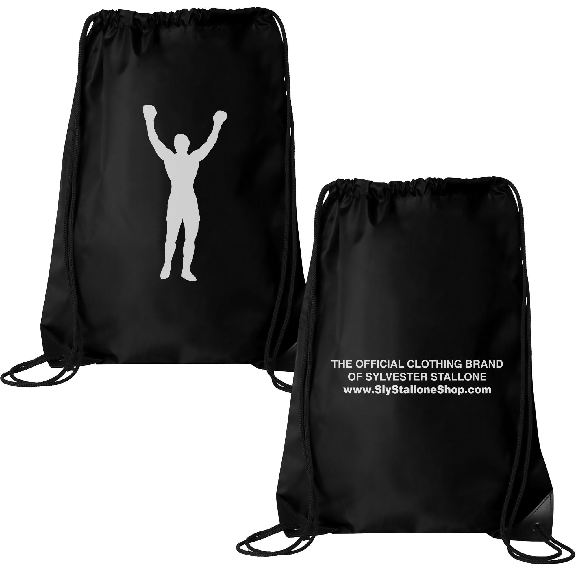 Rocky Statue Drawstring Bag