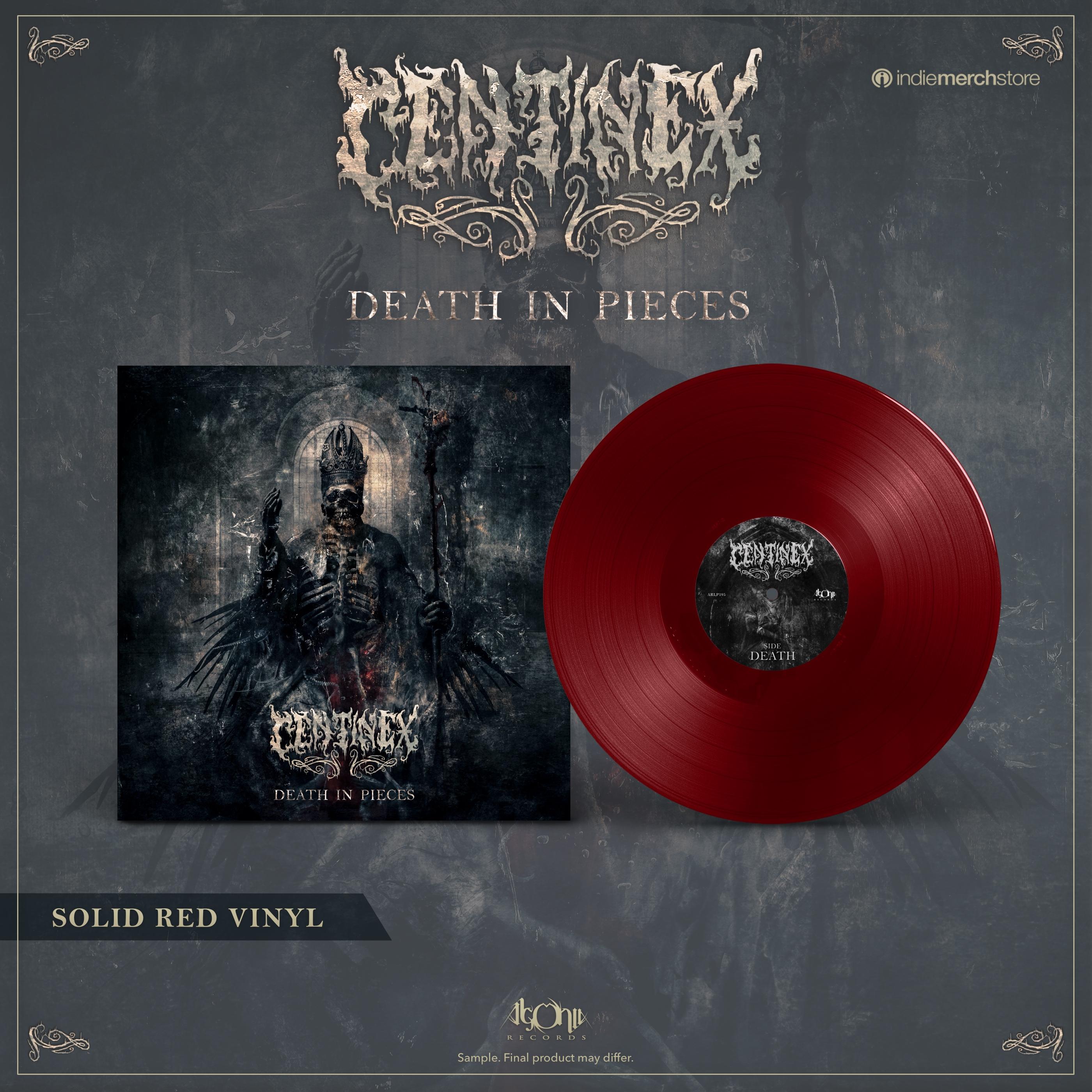 Death in Pieces Red Vinyl + Tee Bundle