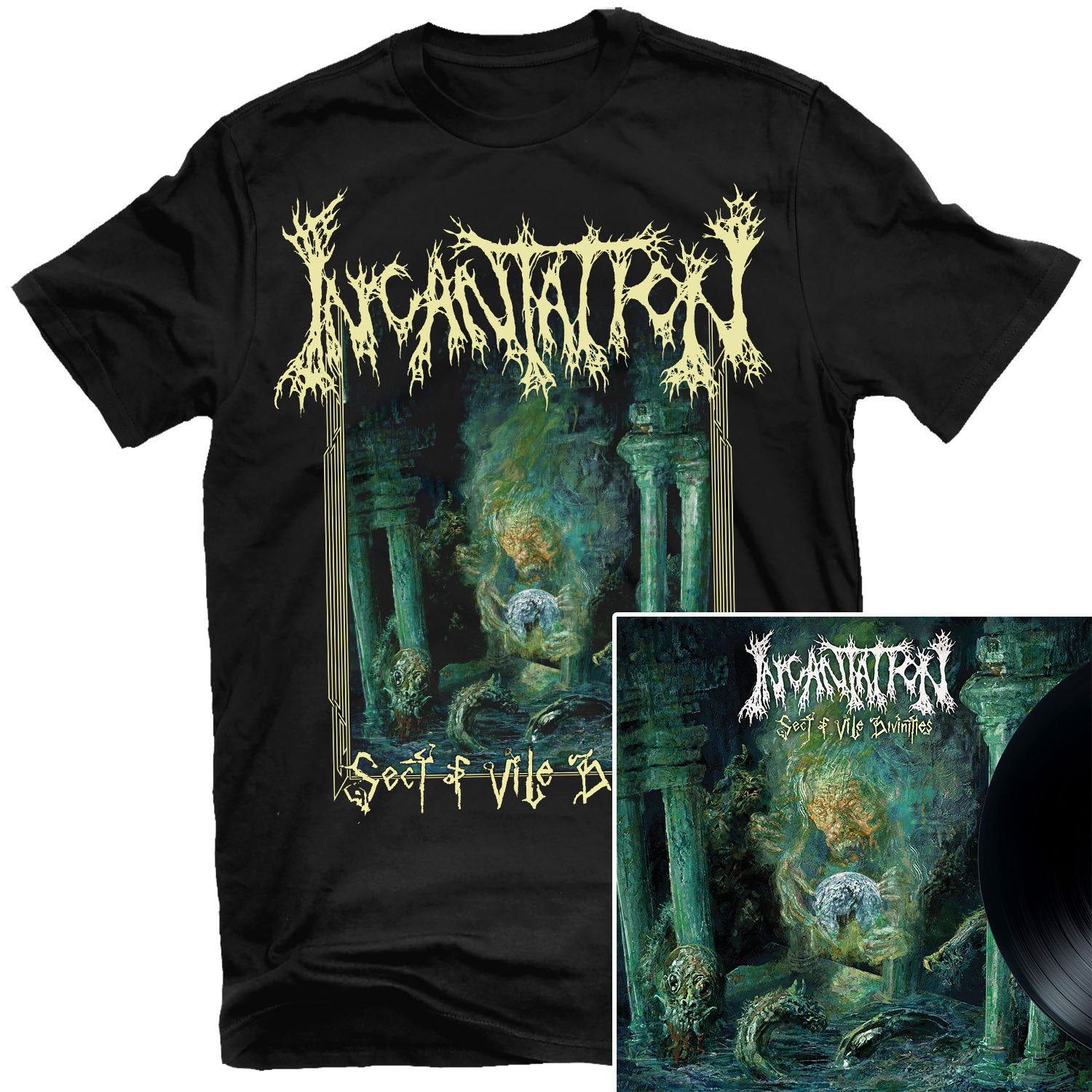 Sect of Vile Divinities T Shirt + LP Bundle