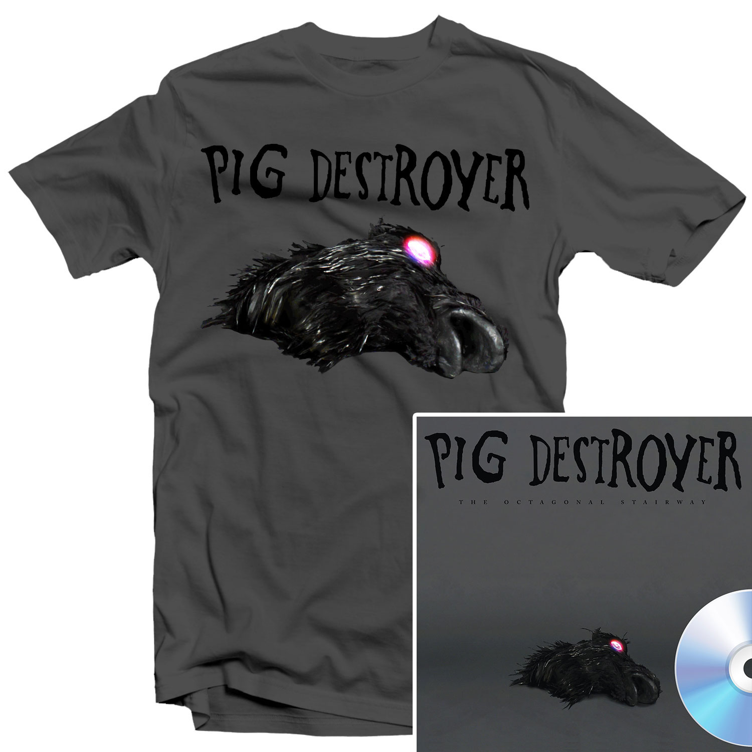 The Octagonal Stairway T Shirt + CD Bundle