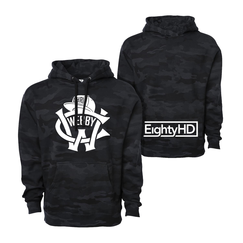 Classic CW Logo with EightyHD Black Camo Hoodie