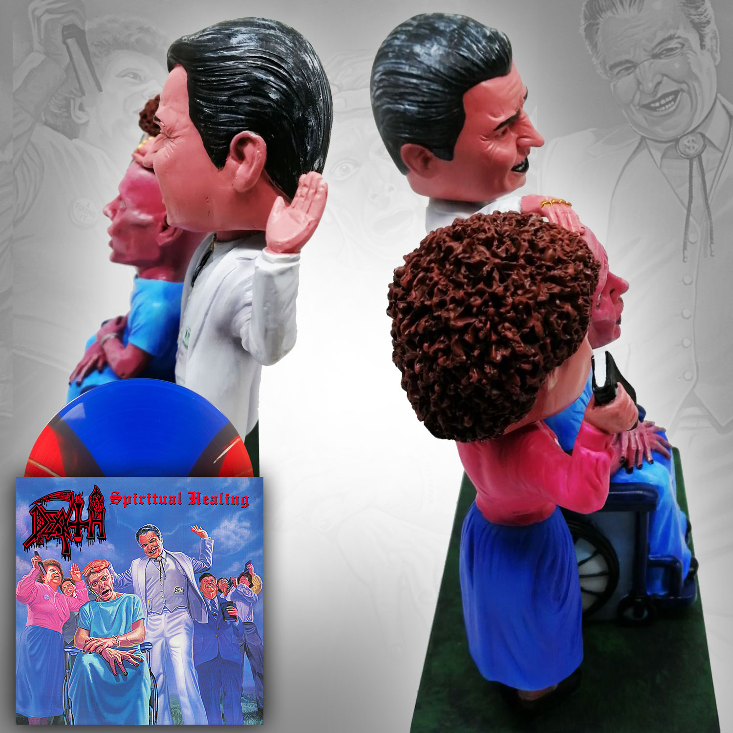 Spiritual Healing Double Bobble Head + LP Deluxe Package