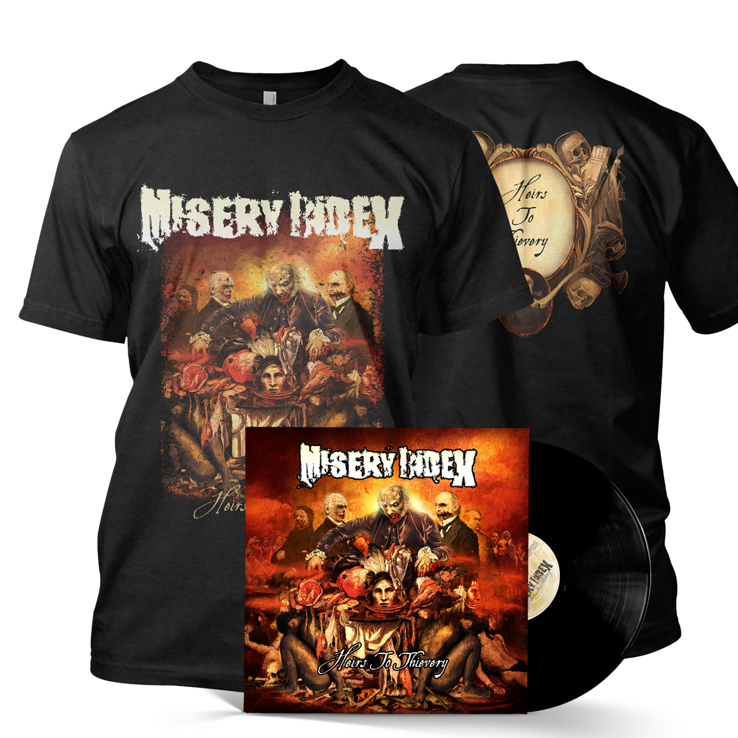 Heirs To Thievery Tee/LP Bundle (Black)