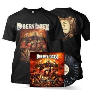 Heirs To Thievery Tee/LP Bundle (Black/Bone Splatter)