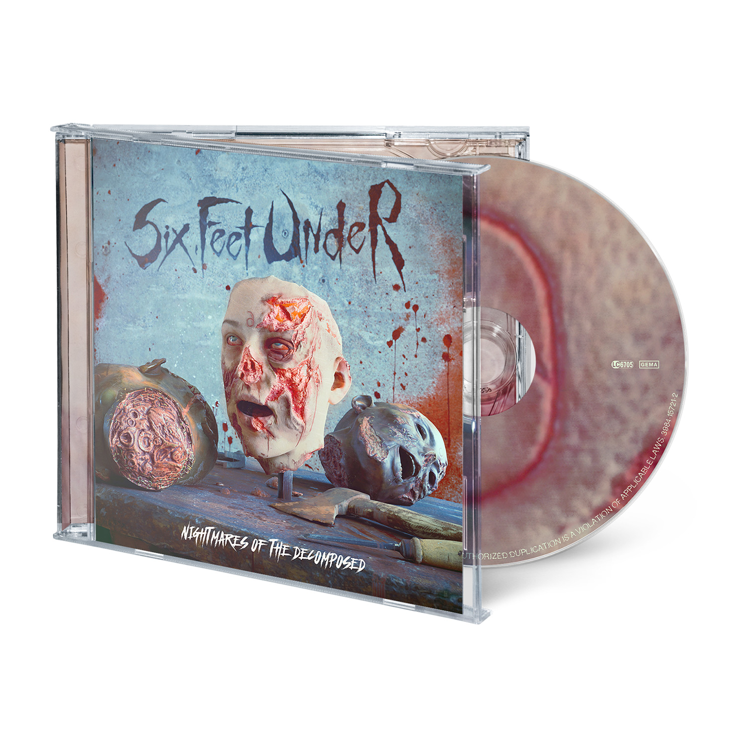 Nightmares of the Decomposed - Deluxe CD Bundle - Bloody Skin
