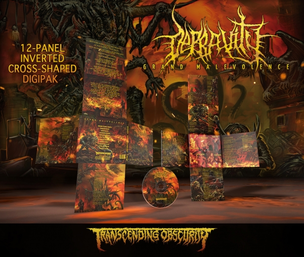 Grand Malevolence 12-Panel Inverted Cross-Shaped Digipak