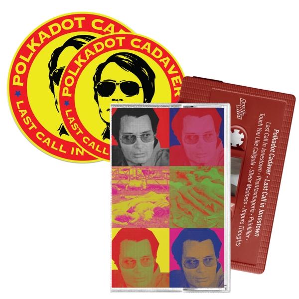 Last Call In Jonestown Cassette/Patch/Sticker Bundle