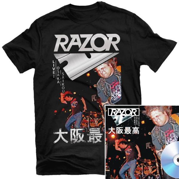 Live! Osaka Saikou 大阪最高 T Shirt + CD Reissue Bundle