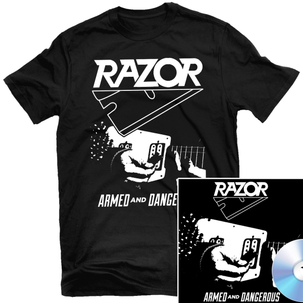 Armed and Dangerous T Shirt + CD Reissue Bundle