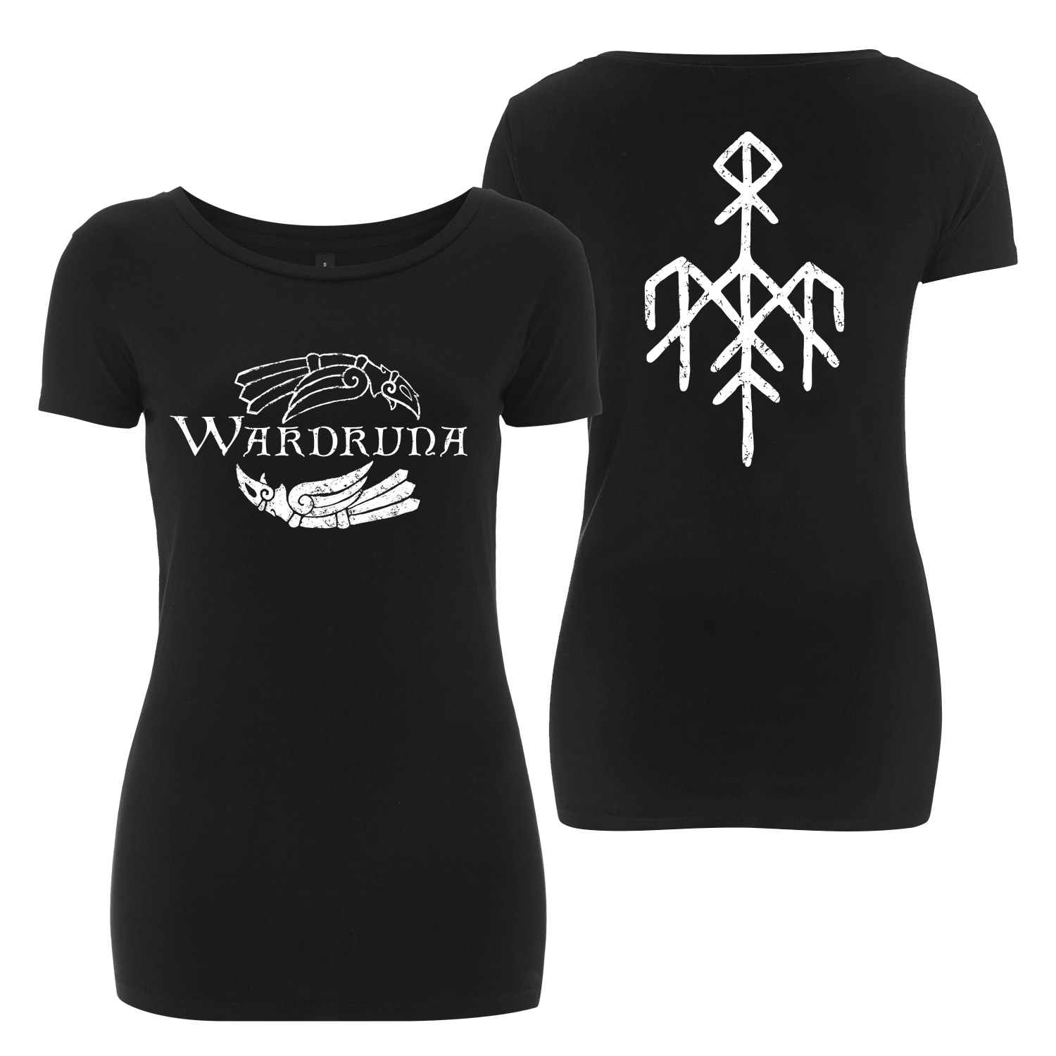 Kvitravn Horizontal T-Shirt, Flag and Keychain Bundle (Women)