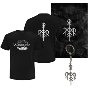 Kvitravn Horizontal T-Shirt, Flag and Keychain Bundle (Men)