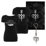 Pre-Order: Kvitravn Horizontal T-Shirt, Flag and Keychain Bundle (Women)