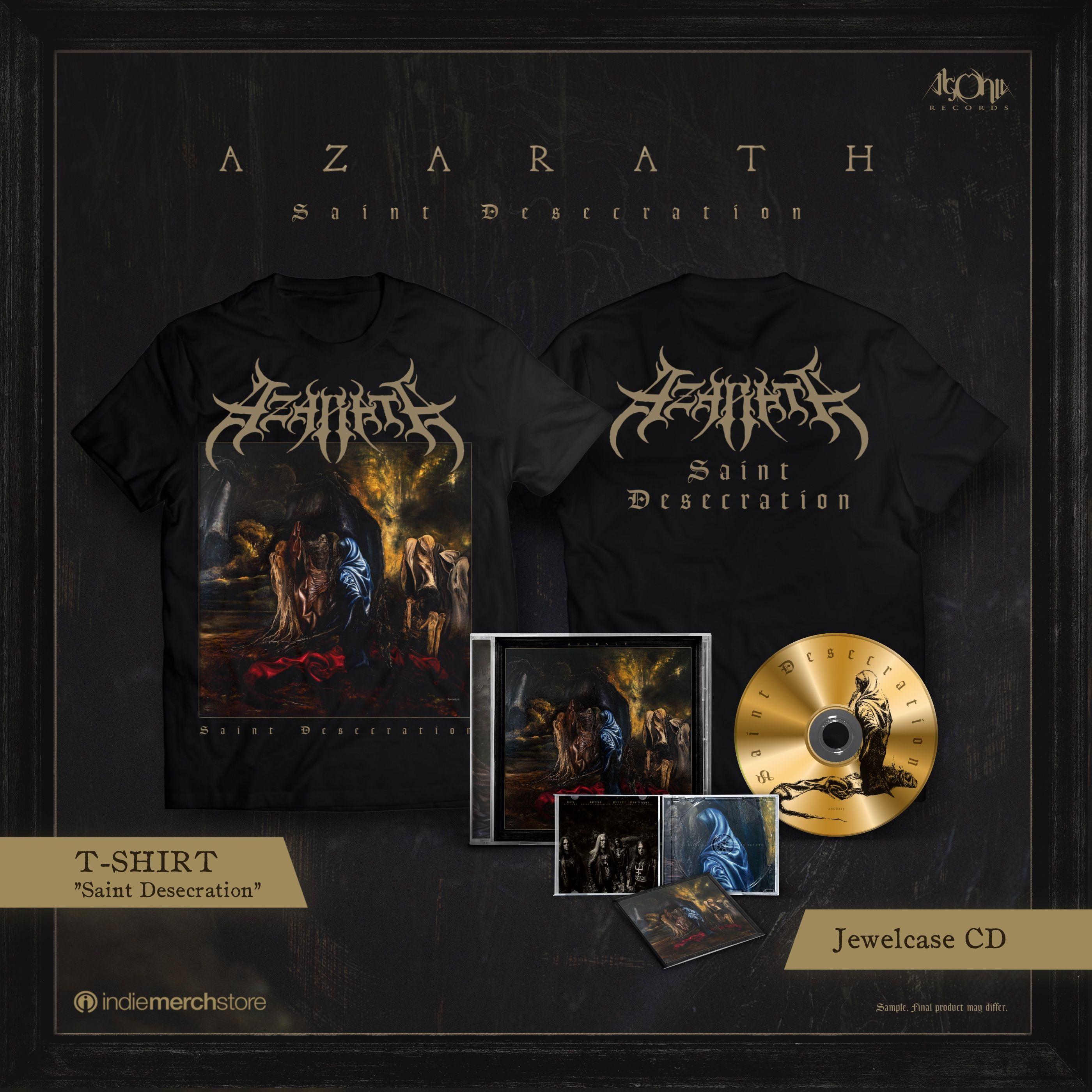 Saint Desecration Jewelcase CD + Tee Bundle