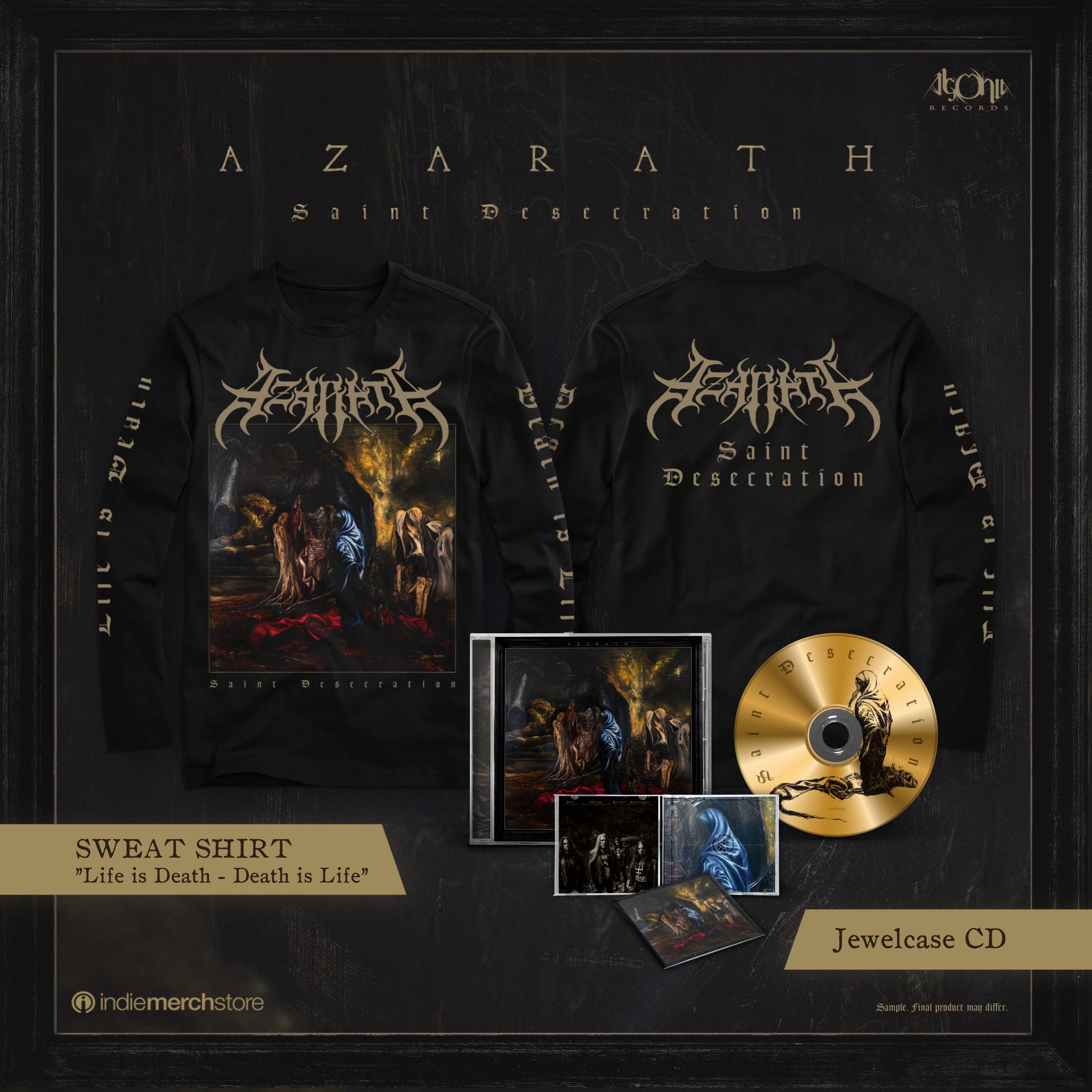 Saint Desecration Jewelcase CD + Longsleeve Bundle