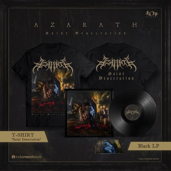 Saint Desecration Black LP + Tee Bundle