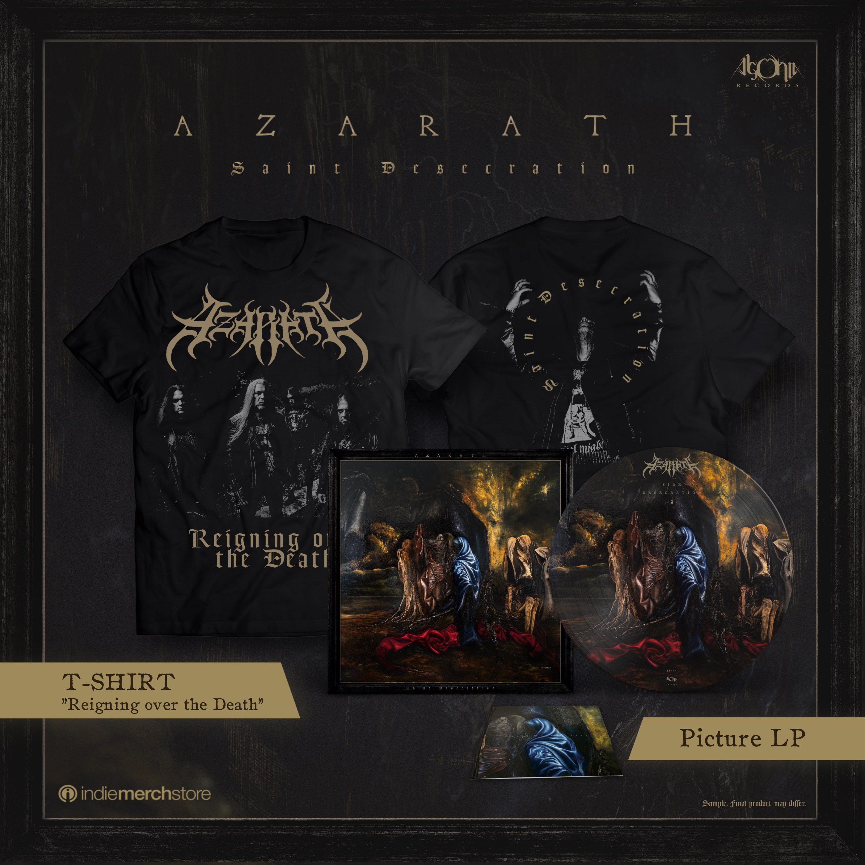 Saint Desecration Picture LP + Tee Bundle