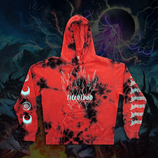 Lifeblood Red Crystal CUSTOM TIE-DYE