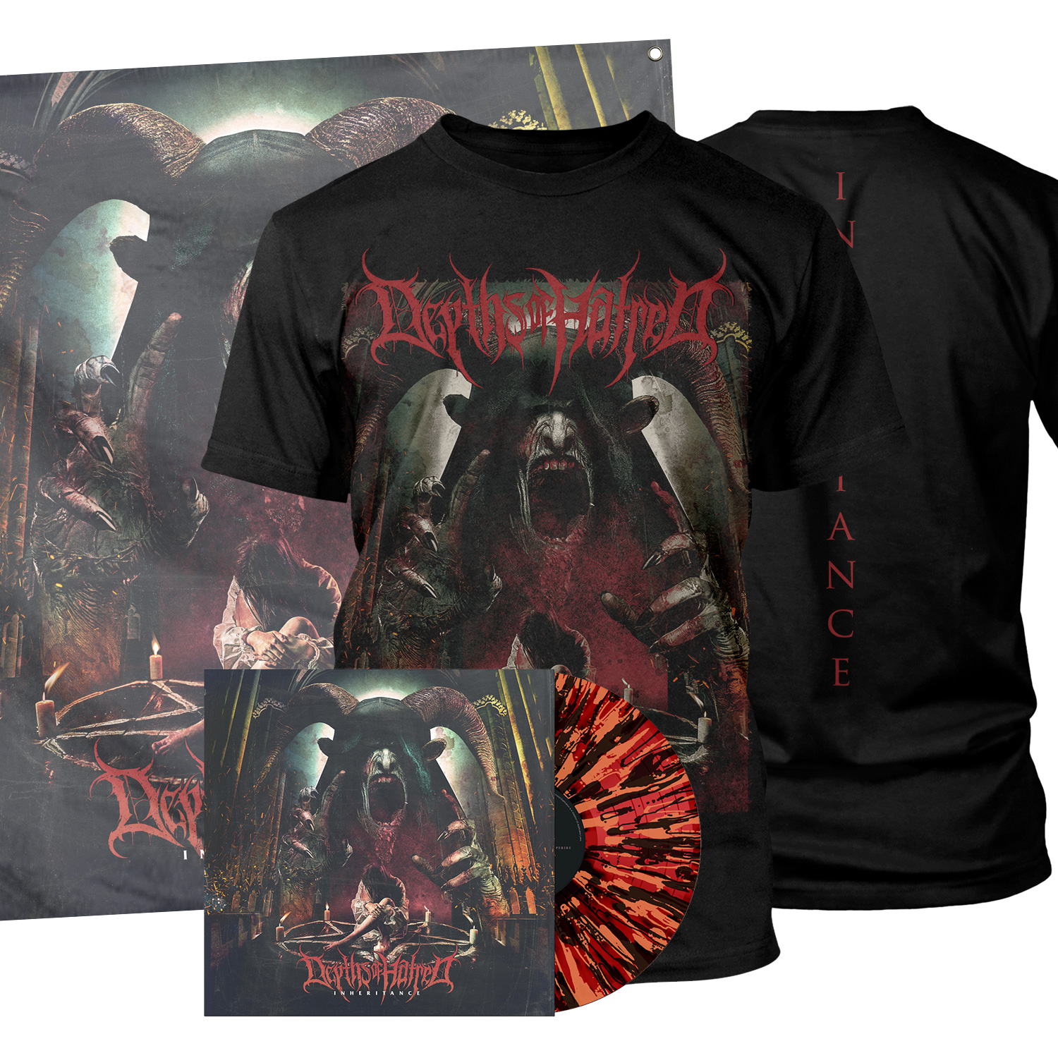 Inheritance LP/Tee/Flag Bundle