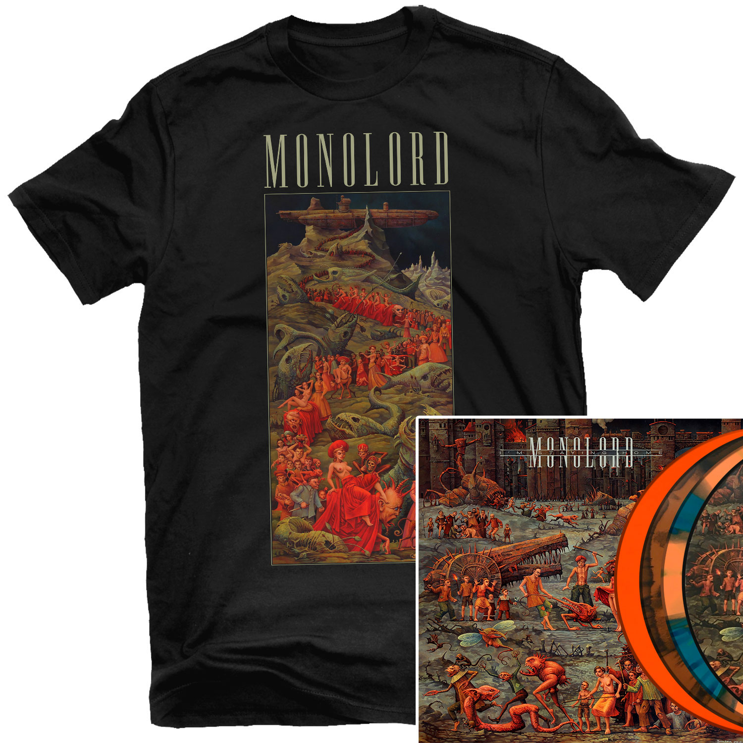 I'm Staying Home T Shirt + LP Bundle
