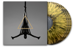 Triangle (Black Splatter on Gold)