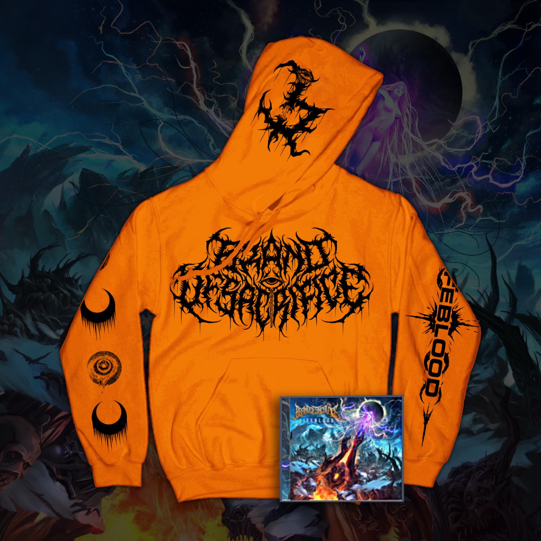LIFEBLOOD Orange Hoodie + LIFEBLOOD CD Bundle
