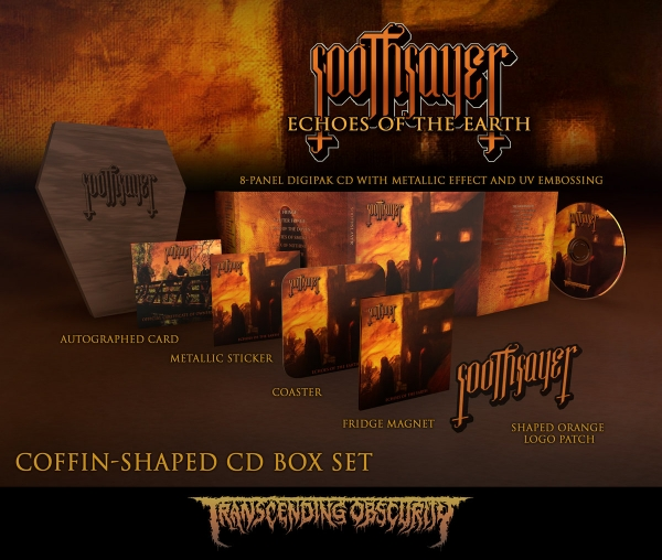 Coffin-Shaped Brown Wooden Autographed CD Box Set