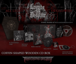 All Light Swallowed Black Coffin-Shaped Wooden CD Box Set