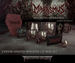 Necrotic Overlord Coffin Wooden CD Box Set