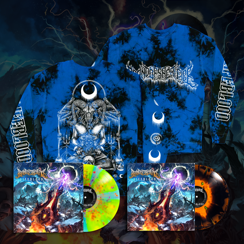 Blue Crystal Dye Long Sleeve w/ Vinyl