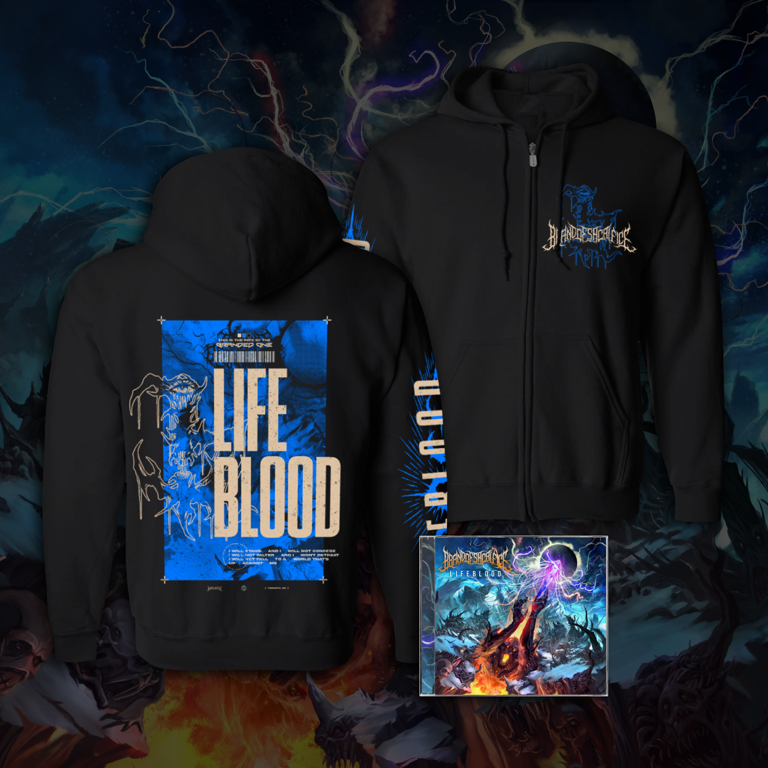 Lifeblood Zip Up w/ CD