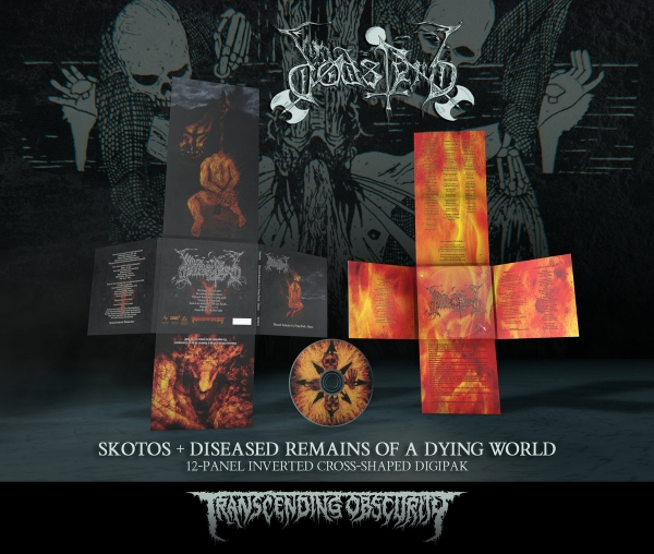 Skotos + Diseased Remnants... 12-Panel Inverted Cross-Shaped Digipak CD