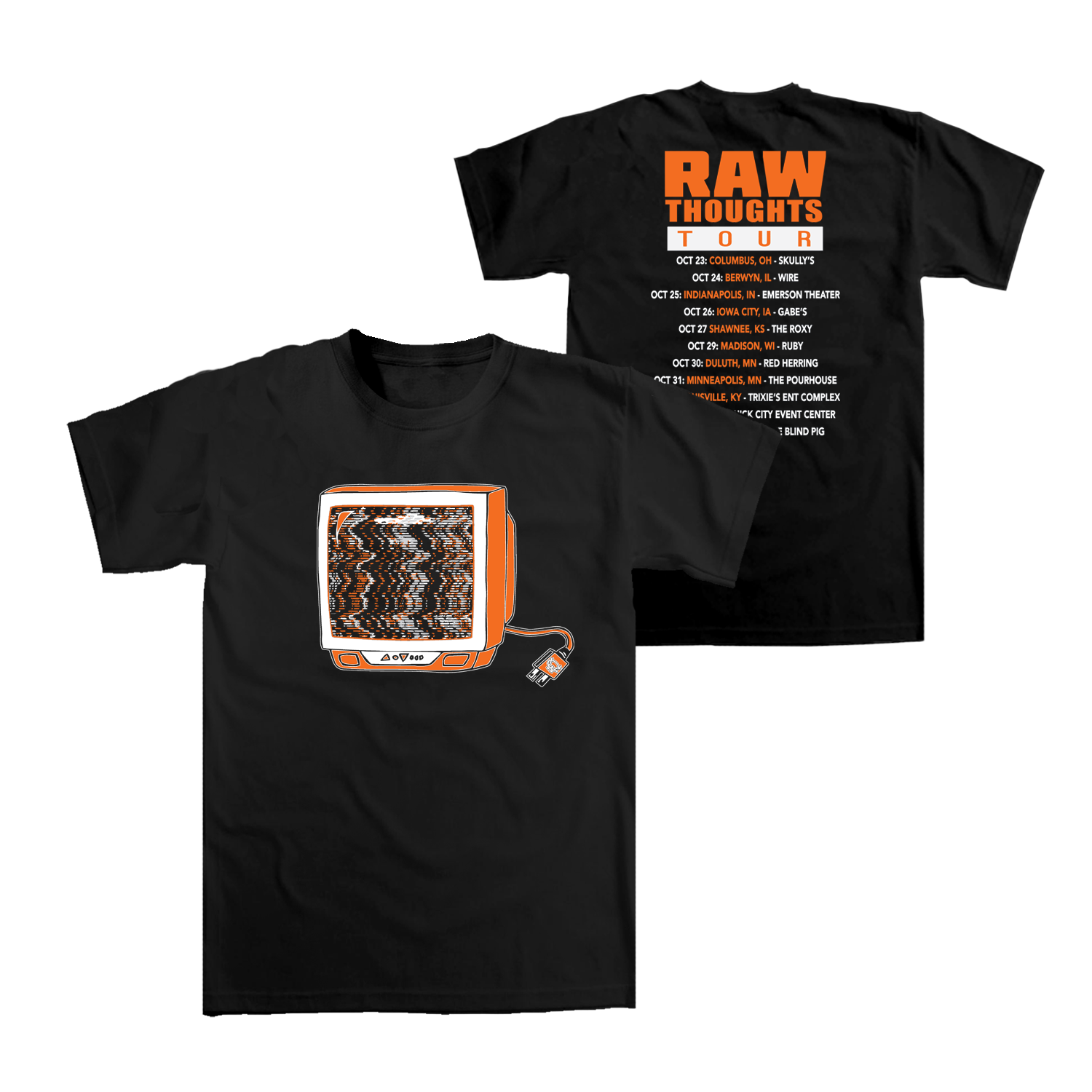 Raw Thoughts Tour T-shirt (Midwest)