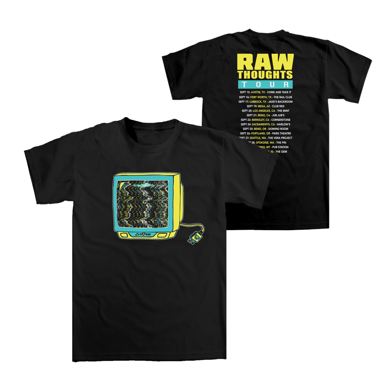 Raw Thoughts Tour T-shirt (West Coast)