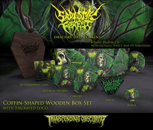 Pre-Order: Obscure Old Remains Coffin-Shaped Wooden CD Box