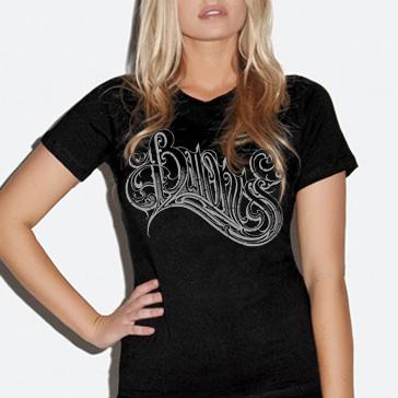 Baroness Logo Girlie T Shirt (Black)
